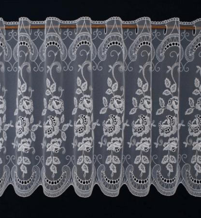 Plauener Spitze Scheibengardine Gardine Modespitze Kaffeehausgardine Kurzgardine Fenster