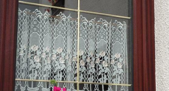 Die Scheibengardine ist unsere florales Design 68730