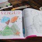 Schick entspannen mit dem Vogue Malbuch