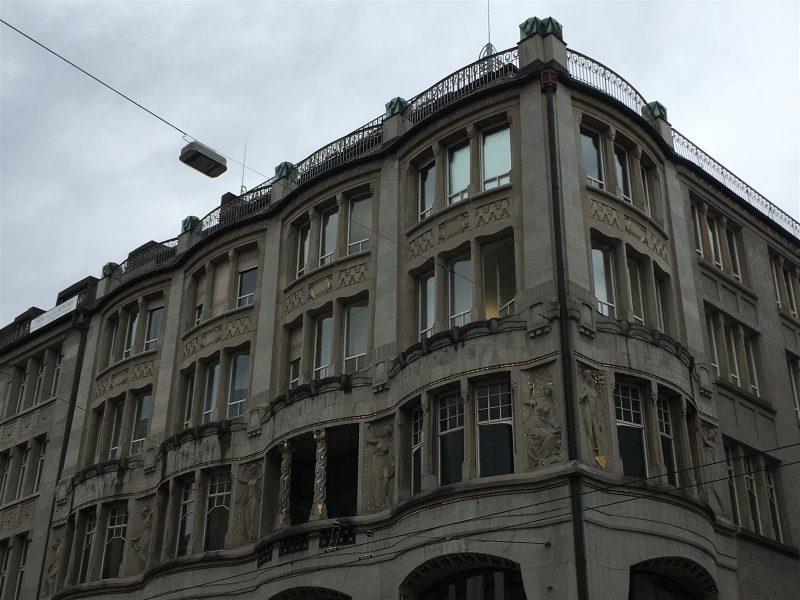 imposante Jugenstilachitektur in der Textlstadt st. gallen: Haus Oceanic