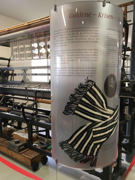 Ausstellungsräume im Textilmuseum in Limbach-Oberfrohna in Sachsen
